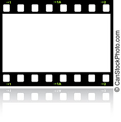 Filmstrip background with reflection