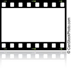 filmstrip background - Filmstrip background with reflection