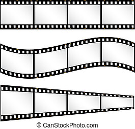 Various filmstrip backgrounds