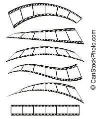 filmstrip banner - warped film strip with wavy style, with...