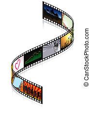 filmstrip, coloreado