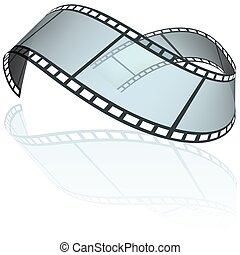 Filmstrip E - colored illustration