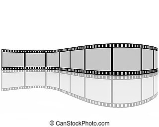 filmstrip, fondo blanco
