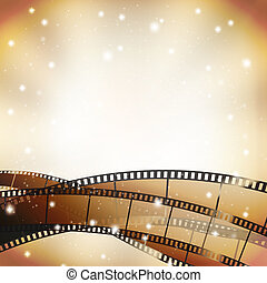 filmstrip, fondo, retro, stelle, cinema