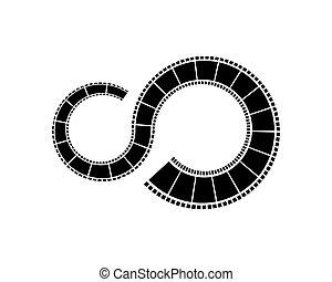 filmstrip, gabarit, logo