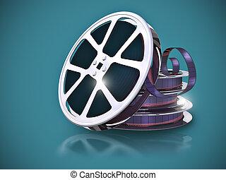 filmstrip, haspel, film