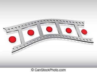 filmstrip, ilustracja