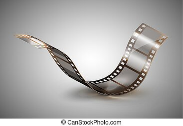 filmstrip isolated on a gray background