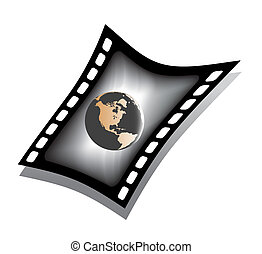 filmstrip, kula, ziemia