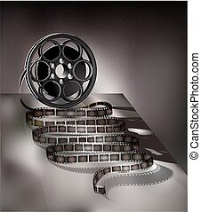 filmstrip on a gray background