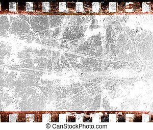 filmstrip - old film strip with some damage on it