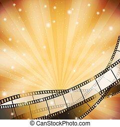 filmstrip, stelle, retro, fondo