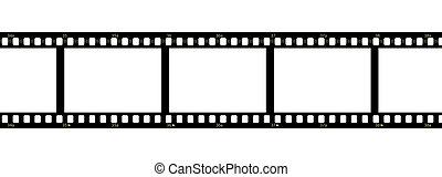 filmstrip, sur, fond blanc