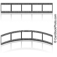 filmstrip templates with shadow