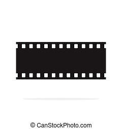 filmstrip, vektor, seamless, grafické pozadí, osamocený