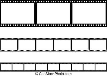 filmstrip, vektor, seamless, tenká vrstvička odřít