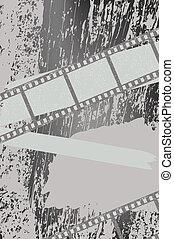 filmstrips, baggrund, grunge