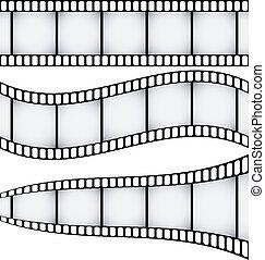 filmstrips, conjunto, tres