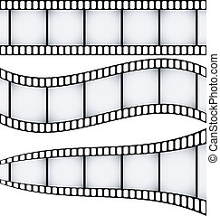 filmstrips, ensemble, trois