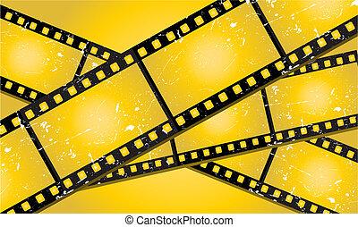 filmstrips, grunge