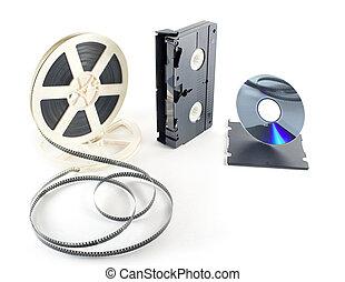 filmy, dvd, vhs, format