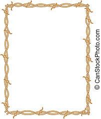filo spinato, bordo, cornice, fondo