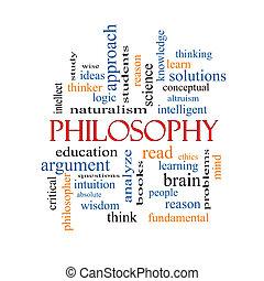 filosofie, woord, wolk, concept