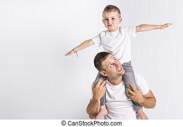 fils, papa