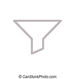 filter  color line icon