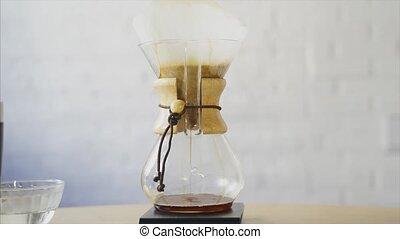 filter., fluxs, alternative, par, café, gradually, café