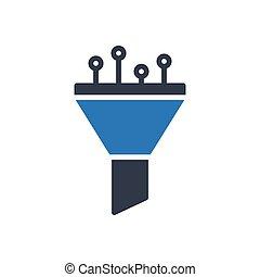 filter glyph color icon