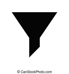 filter  glyph flat icon