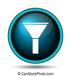 Filter icon. Internet button on white background.
