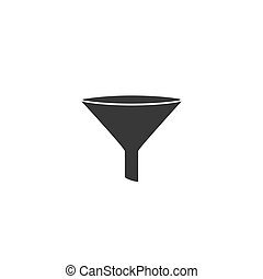 Filter icon on white background. Vector
