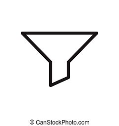filter thin line icon