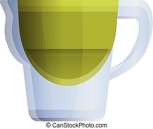Filter water jug icon, cartoon style - Filter water jug icon...