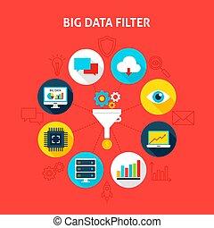 filtr, cielna, pojęcie, dane