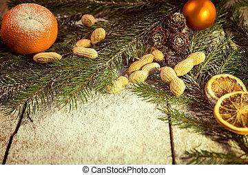 filtrado, navidad, plano de fondo, vendimia