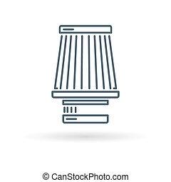 filtre, blanc, cône, fond, icône