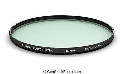filtre, protéger, mm, photo, 77, neutre, professionnel