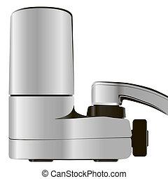 filtro acqua, rubinetto, sistema