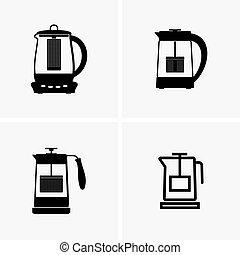 filtro, bollitore tè, elettrico