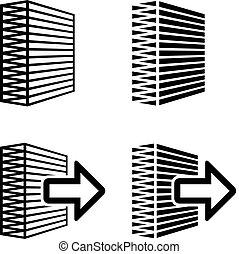 filtro, símbolo, aire, negro