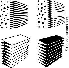 filtro, símbolo, pretas, efeito, ar