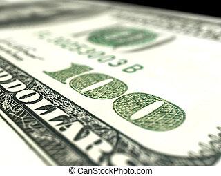 fim, dólar, cima