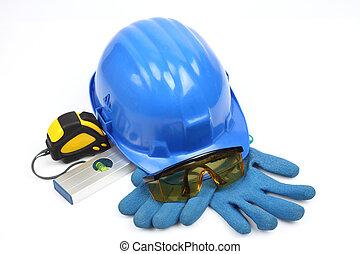 fim, equipamento, segurança, cima, engrenagem