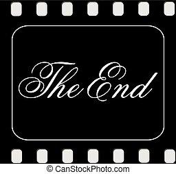 fim, filme, terminando, tela