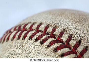 fin, base-ball, haut
