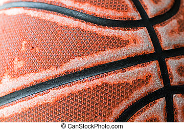 fin, basket-ball, haut