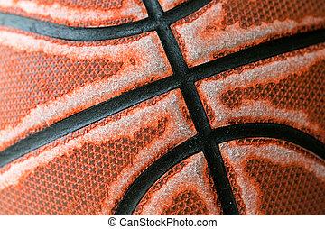 fin, basket-ball, vieux, haut, texture
